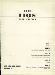 Page 7, 1950 Edition, Red Lion Area High School - Lion Yearbook (Red Lion, PA) online yearbook collection