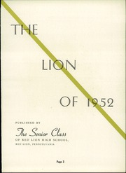 Page 7, 1952 Edition, Red Lion Area High School - Lion Yearbook (Red Lion, PA) online yearbook collection