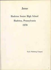 Page 7, 1970 Edition, Hazleton High School - Janus Yearbook (Hazleton, PA) online yearbook collection