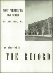 Page 6, 1941 Edition, West Philadelphia High School - Record Yearbook (Philadelphia, PA) online yearbook collection