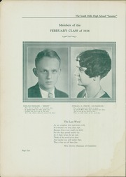 Page 12, 1928 Edition, South Hills High School - Lives Yearbook (Pittsburgh, PA) online yearbook collection