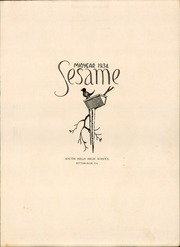 Page 3, 1934 Edition, South Hills High School - Lives Yearbook (Pittsburgh, PA) online yearbook collection