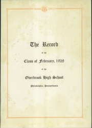 Page 5, 1928 Edition, Overbrook High School - Record Yearbook (Philadelphia, PA) online yearbook collection