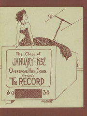 Page 5, 1952 Edition, Overbrook High School - Record Yearbook (Philadelphia, PA) online yearbook collection