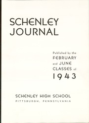 Page 7, 1943 Edition, Schenley High School - Schenley Journal Yearbook (Pittsburgh, PA) online yearbook collection