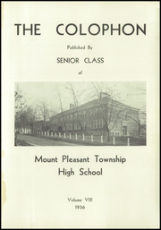 Page 5, 1936 Edition, Mount Pleasant High School - Log Yearbook (Mount Pleasant, PA) online yearbook collection