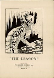 Page 5, 1931 Edition, Warren Area High School - Dragon Yearbook (Warren, PA) online yearbook collection
