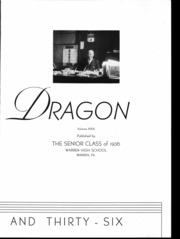 Page 4, 1936 Edition, Warren Area High School - Dragon Yearbook (Warren, PA) online yearbook collection