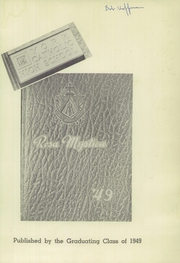 Page 5, 1949 Edition, York Catholic High School - Rosa Mystica Yearbook (York, PA) online yearbook collection