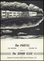 Page 7, 1953 Edition, Richland High School - Portal Yearbook (Johnstown, PA) online yearbook collection