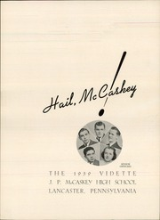 Page 5, 1939 Edition, John Piersol McCaskey High School - Echo Yearbook (Lancaster, PA) online yearbook collection