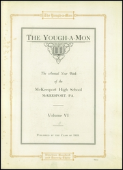 Page 5, 1923 Edition, McKeesport High School - Yough A Mon Yearbook (Mckeesport, PA) online yearbook collection