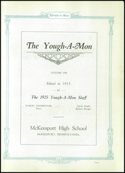 Page 7, 1925 Edition, McKeesport High School - Yough A Mon Yearbook (Mckeesport, PA) online yearbook collection