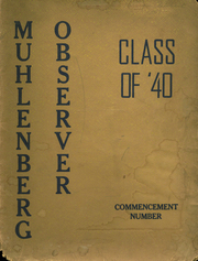 Muhlenberg High School - Muhltohi Yearbook (Laureldale, PA) online yearbook collection, 1940 Edition, Page 1