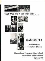 Page 5, 1964 Edition, Muhlenberg High School - Muhltohi Yearbook (Laureldale, PA) online yearbook collection