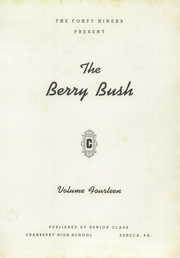 Page 5, 1949 Edition, Cranberry High School - Berry Bush Yearbook (Seneca, PA) online yearbook collection