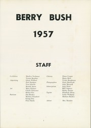 Page 5, 1957 Edition, Cranberry High School - Berry Bush Yearbook (Seneca, PA) online yearbook collection