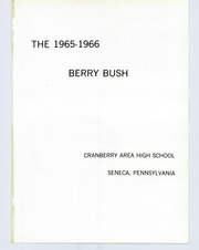 Page 5, 1966 Edition, Cranberry High School - Berry Bush Yearbook (Seneca, PA) online yearbook collection