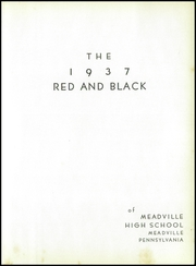 Page 11, 1937 Edition, Meadville Area High School - Red and Black Yearbook (Meadville, PA) online yearbook collection