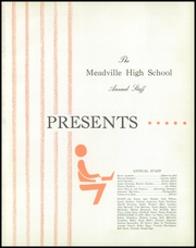 Page 5, 1955 Edition, Meadville Area High School - Red and Black Yearbook (Meadville, PA) online yearbook collection
