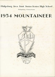 Page 5, 1954 Edition, Philipsburg Osceola Area High School - Mountaineer Yearbook (Philipsburg, PA) online yearbook collection
