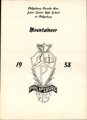Page 5, 1958 Edition, Philipsburg Osceola Area High School - Mountaineer Yearbook (Philipsburg, PA) online yearbook collection