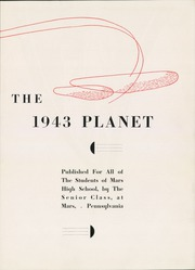 Page 7, 1943 Edition, Mars Area Junior Senior High School - Planet Yearbook (Mars, PA) online yearbook collection