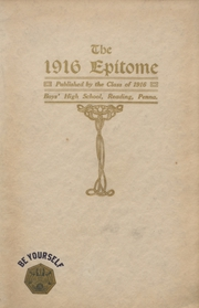 Page 1, 1916 Edition, Reading High School - Arxalma Yearbook (Reading, PA) online yearbook collection