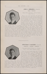 Page 14, 1916 Edition, Reading High School - Arxalma Yearbook (Reading, PA) online yearbook collection