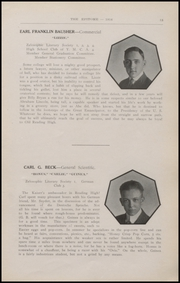 Page 15, 1916 Edition, Reading High School - Arxalma Yearbook (Reading, PA) online yearbook collection