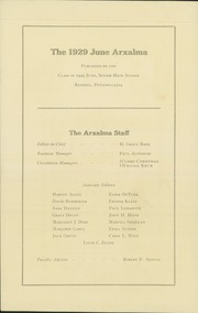 Page 6, 1929 Edition, Reading High School - Arxalma Yearbook (Reading, PA) online yearbook collection