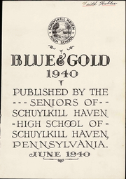 Page 7, 1940 Edition, Schuylkill Haven Area High School - Blue and Gold Yearbook (Schuylkill Haven, PA) online yearbook collection