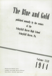 Page 7, 1944 Edition, Schuylkill Haven Area High School - Blue and Gold Yearbook (Schuylkill Haven, PA) online yearbook collection
