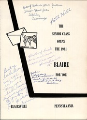 Page 4, 1961 Edition, Blairsville High School - Blaire Yearbook (Blairsville, PA) online yearbook collection