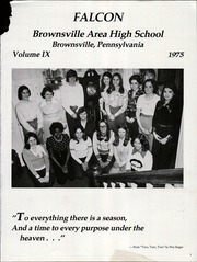 Page 5, 1975 Edition, Brownsville Area High School - Falcon Yearbook (Brownsville, PA) online yearbook collection