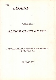 Page 5, 1967 Edition, Southmoreland Senior High School - Legend Yearbook (Alverton, PA) online yearbook collection