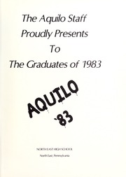 Page 5, 1983 Edition, North East High School - Aquilo Yearbook (North East, PA) online yearbook collection