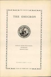 Page 9, 1929 Edition, David B Oliver High School - Omicron Yearbook (Pittsburgh, PA) online yearbook collection