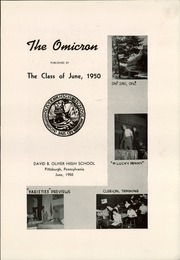 Page 9, 1950 Edition, David B Oliver High School - Omicron Yearbook (Pittsburgh, PA) online yearbook collection