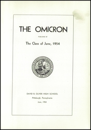 Page 5, 1954 Edition, David B Oliver High School - Omicron Yearbook (Pittsburgh, PA) online yearbook collection