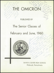 Page 5, 1960 Edition, David B Oliver High School - Omicron Yearbook (Pittsburgh, PA) online yearbook collection