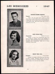 Page 14, 1947 Edition, Northeastern High School - Les Memoires Yearbook (Manchester, PA) online yearbook collection