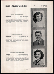 Page 15, 1947 Edition, Northeastern High School - Les Memoires Yearbook (Manchester, PA) online yearbook collection