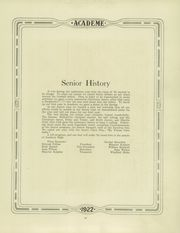 Page 17, 1922 Edition, Academy High School - Academe Yearbook (Erie, PA) online yearbook collection