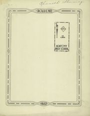 Page 3, 1922 Edition, Academy High School - Academe Yearbook (Erie, PA) online yearbook collection