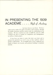 Page 11, 1939 Edition, Academy High School - Academe Yearbook (Erie, PA) online yearbook collection