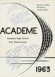 Page 5, 1963 Edition, Academy High School - Academe Yearbook (Erie, PA) online yearbook collection