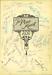 Page 7, 1926 Edition, Grove City Area High School - Pine Knot Yearbook (Grove City, PA) online yearbook collection