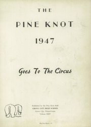 Page 7, 1947 Edition, Grove City Area High School - Pine Knot Yearbook (Grove City, PA) online yearbook collection