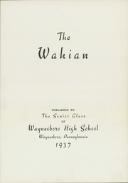 Page 7, 1937 Edition, Waynesboro Area Senior High School - Wayarian Yearbook (Waynesboro, PA) online yearbook collection